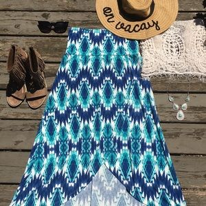 Lily Rose}• high low wrap skirt